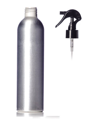 4oz Silver Aluminum Bottle w/ Trigger Sprayer Top