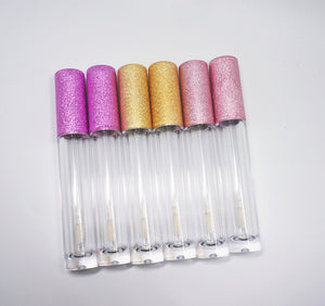 Glitter Pink Top Gloss Package 240 pcs w/5 Colors