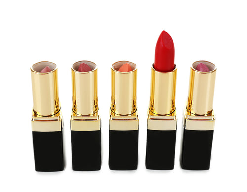 Black Gold Square Tube-Lipstick Package 330 psc w/5 Colors