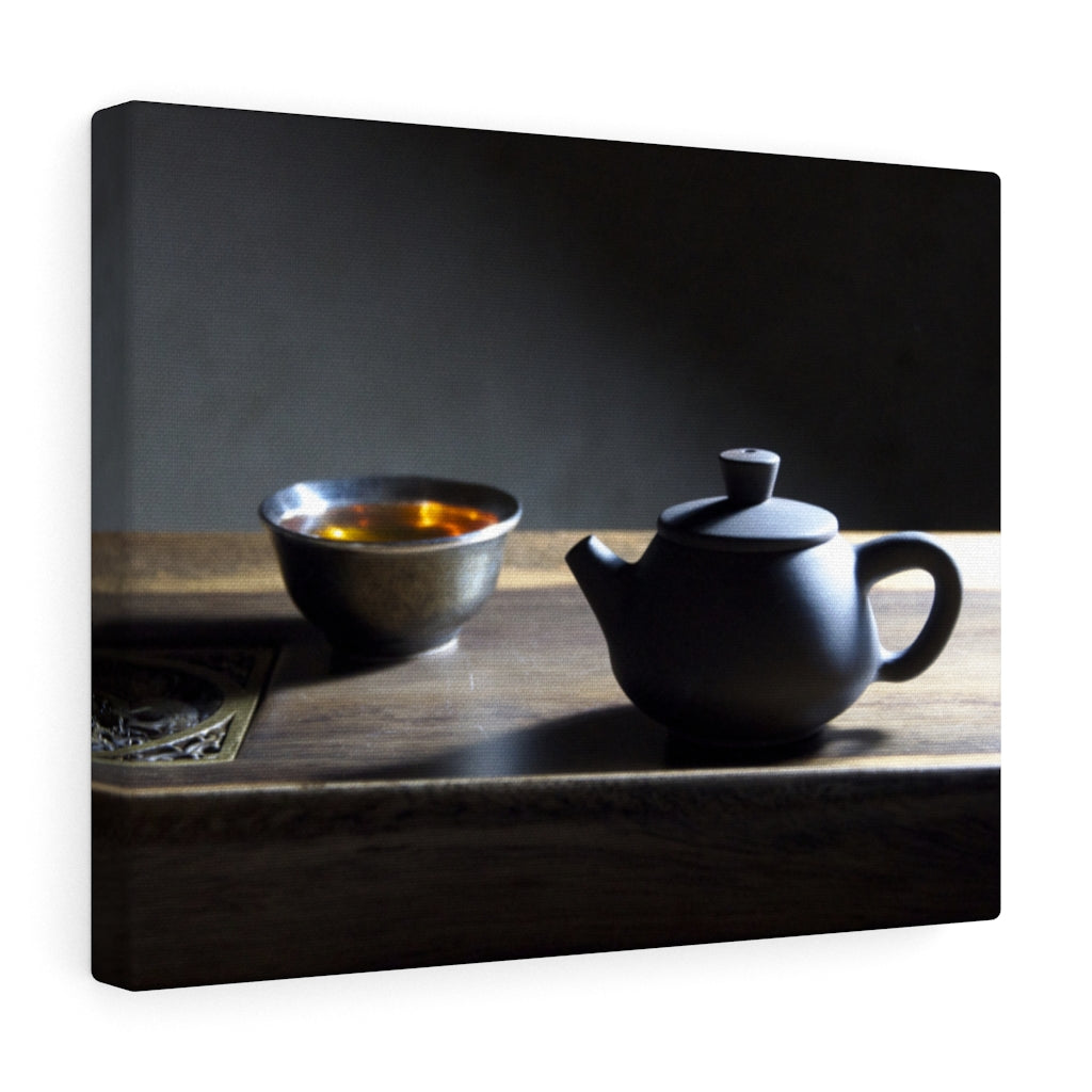 Teapot and Cup - Canvas Print