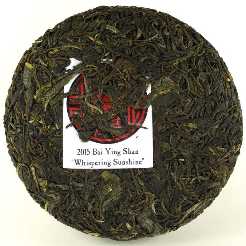 "Spring 2015 Bai Ying Shan ""Whispering Sunshine"" Sheng / Raw Puerh from Crimson Lotus Tea"