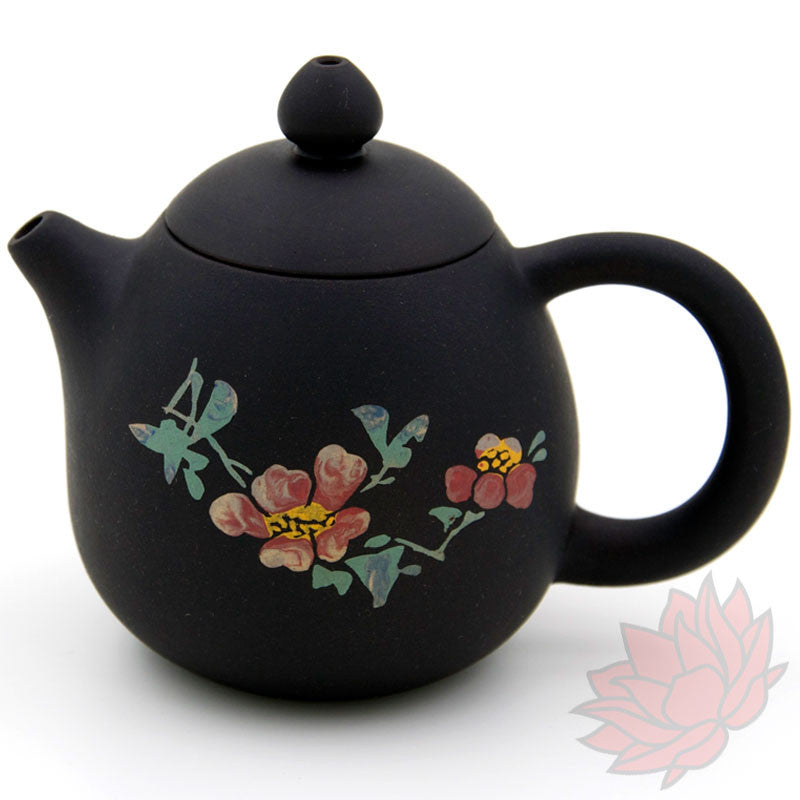 2016 Jianshui Zitao Clay Teapot Dragon's Egg Style With Flowers - 120ml :: FREE SHIPPING SOLD