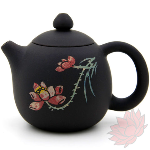 2016 Jianshui Zitao Clay Teapot Dragon's Egg Style With Flowers - 100ml :: FREE SHIPPING SOLD