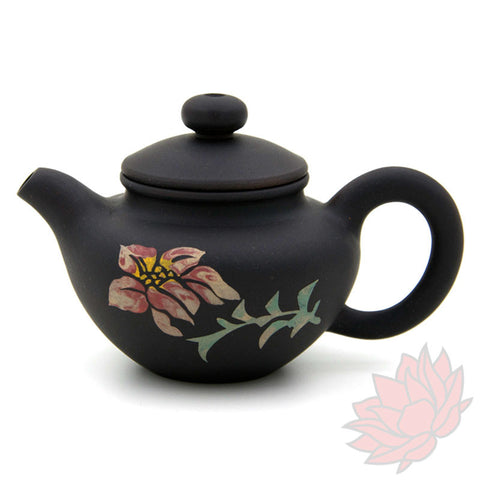 2016 Jianshui Zitao Clay Teapot Fang Gu Style With Flowers - 60ml :: FREE SHIPPING 02
