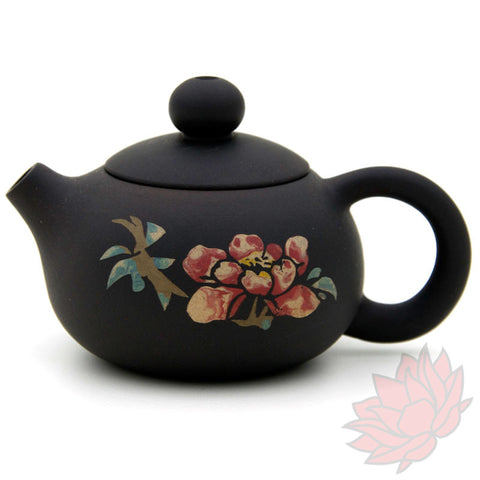 2016 Jianshui Zitao Clay Teapot Xishi Style With Flowers - 60ml :: FREE SHIPPING