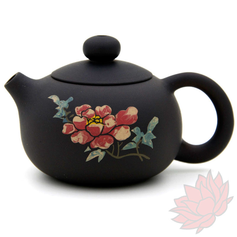 Jianshui Zitao Clay Teapot Xishi Style With Flowers - 90ml :: FREE SHIPPING