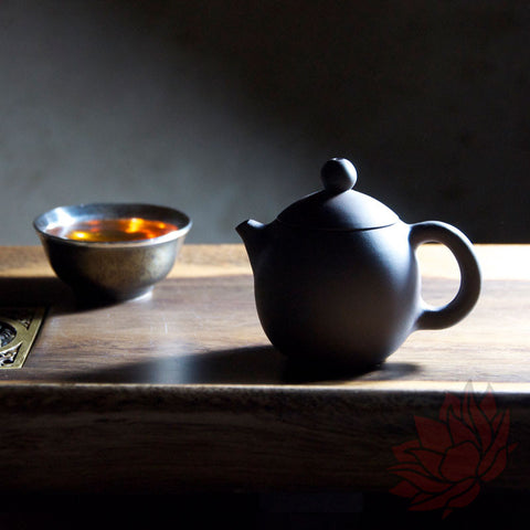 2016 Jianshui Zitao Clay Teapot Long Dan / Dragon's Egg Style - Matte Black - 80-100ml :: FREE SHIPPING