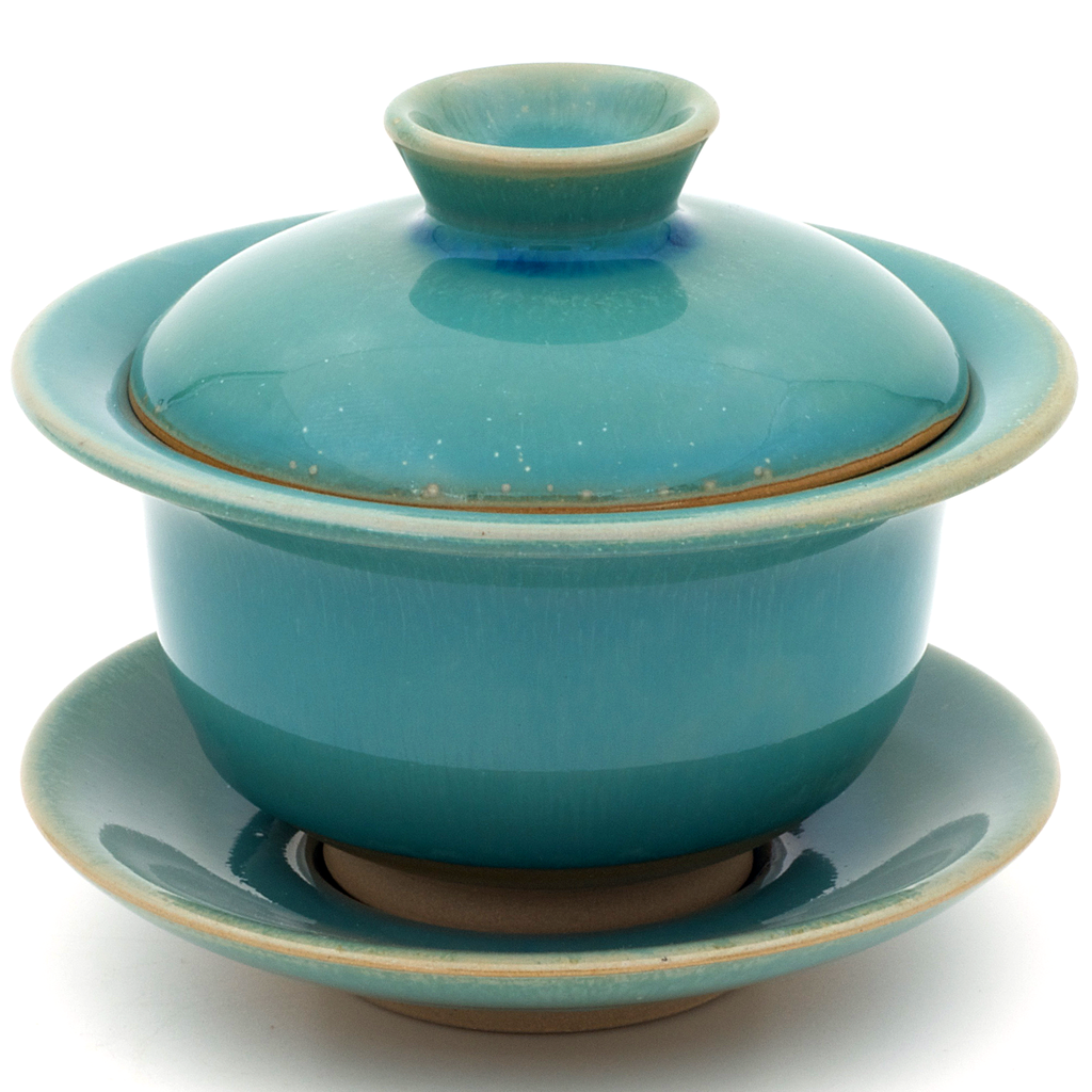 Imperfect Turquoise Huaning Gaiwan - 120 or 150ml :: FREE SHIPPING
