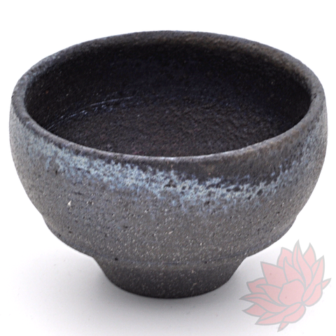 Huaning Wood Fired Tea Cup - Black - 55ml :: FREE SHIPPING