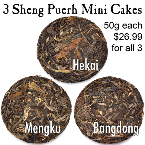 All Three Mini Cakes - Sheng / Raw Puerh Tea