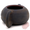 Wood Fired Jianshui Zitao Clay Teapot Bian Xishi Style with Carved Lotus - 80ml :: FREE SHIPPING