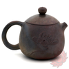 Wood Fired Jianshui Zitao Clay Teapot Dragon's Egg Style with Carved Lotus - 110ml :: FREE SHIPPING