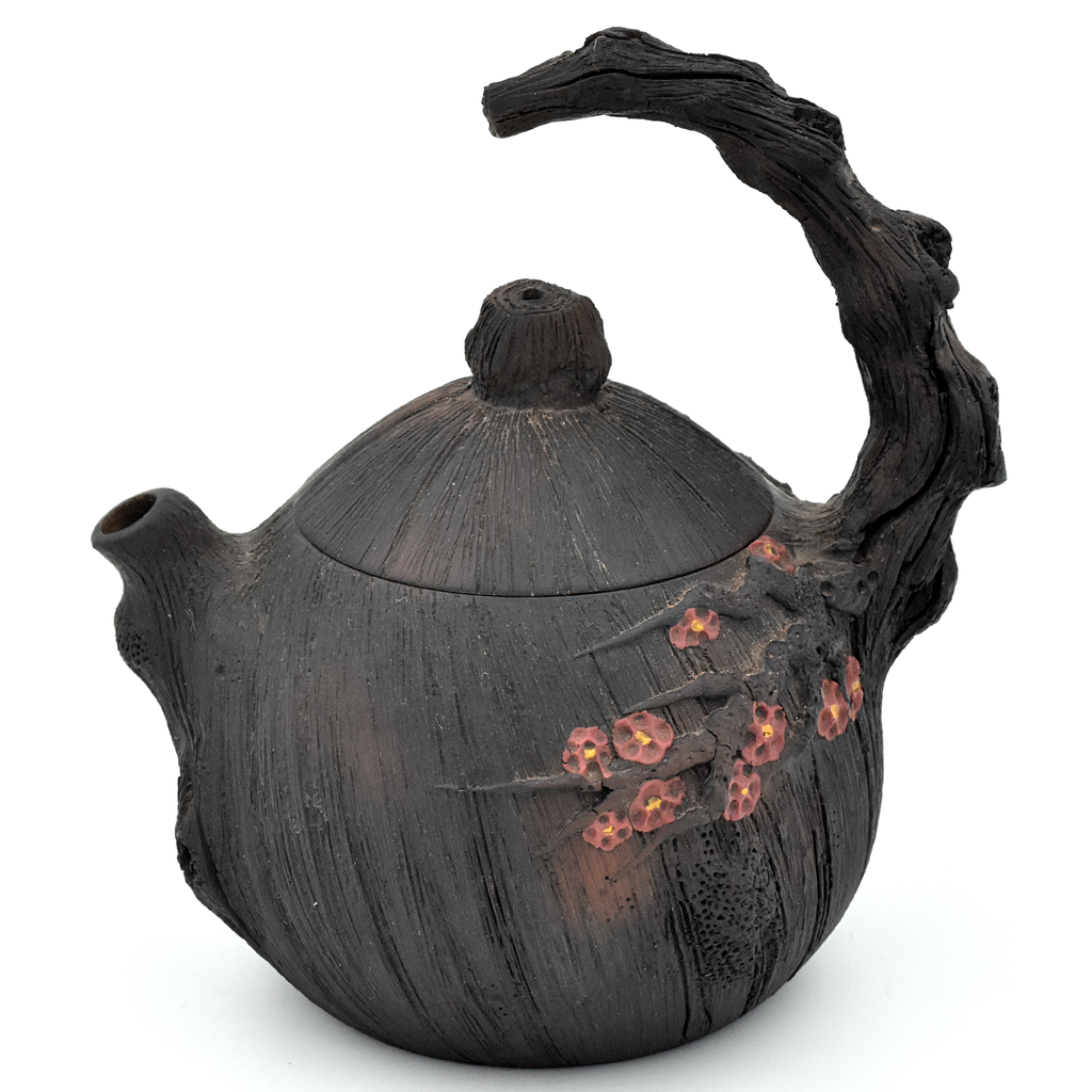Realistic Cherry Tree Branch with Blossoms Jianshui Zitao Teapot - 190ml :: FREE SHIPPING