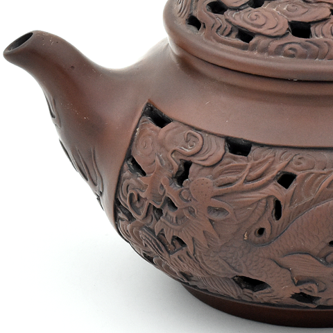 Double Walled Dragon Jianshui Zitao Teapot - 200ml - Flawed :: FREE SHIPPING