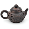 Hand Carved Double Walled Flower Jianshui Zitao Teapot - 110ml :: FREE SHIPPING