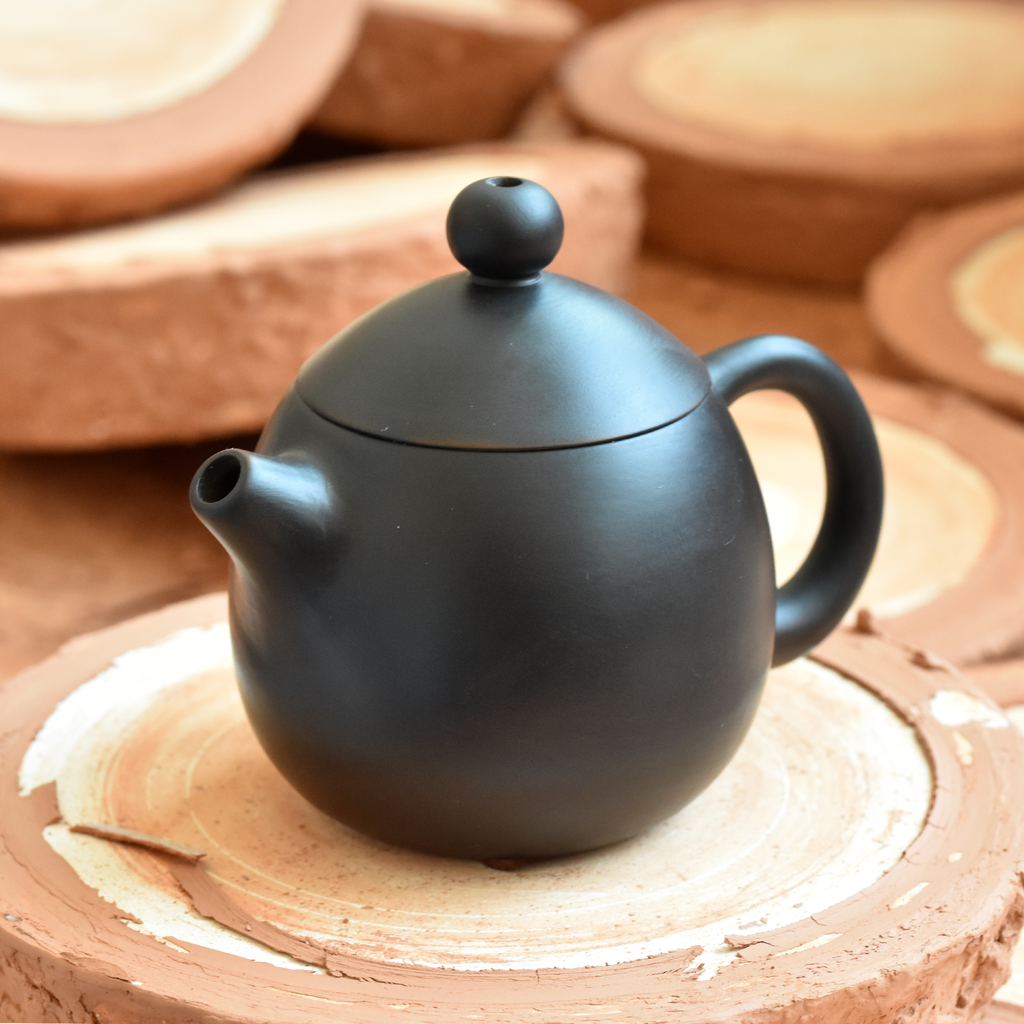Black Jianshui Zitao Teapot - Dragon's Egg Style ~120ml