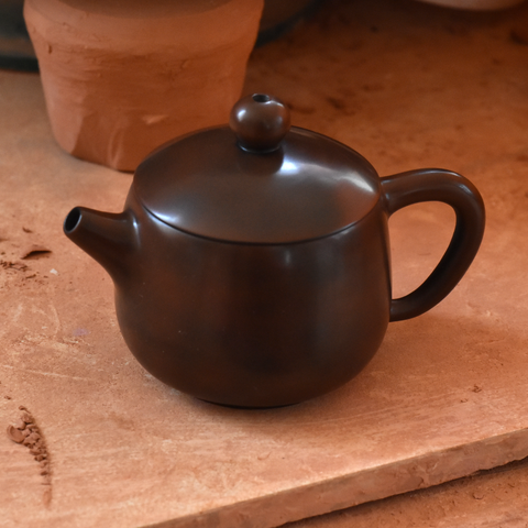 Brown Jianshui Zitao Teapot - Tall Shi Piao Style ~100ml :: FREE SHIPPING