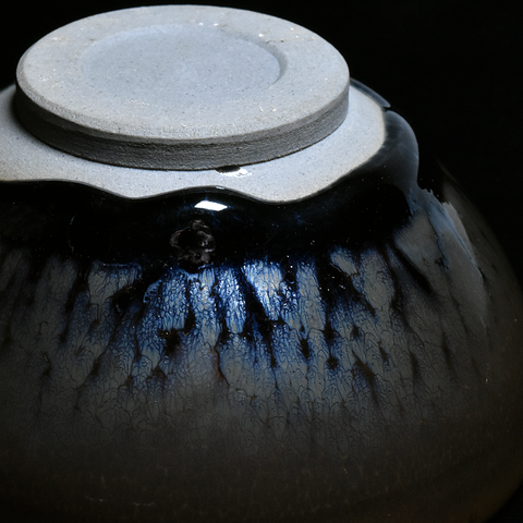 """Ghost Glaze"" Wood Fired Jianzhan Teacup #09 110ml"