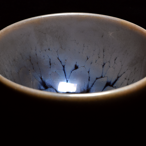 """Ghost Glaze"" Wood Fired Jianzhan Teacup #10 110ml"