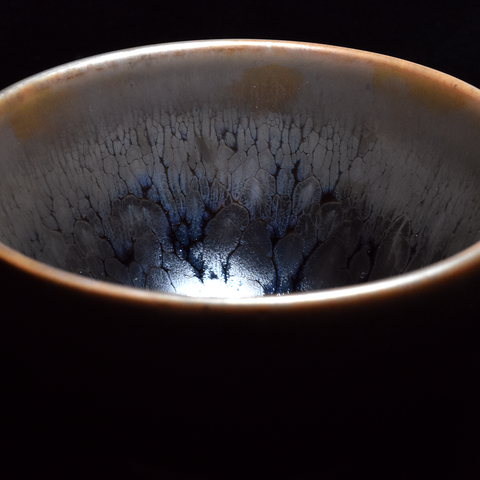 """Ghost Glaze"" Wood Fired Jianzhan Teacup #13 110ml"
