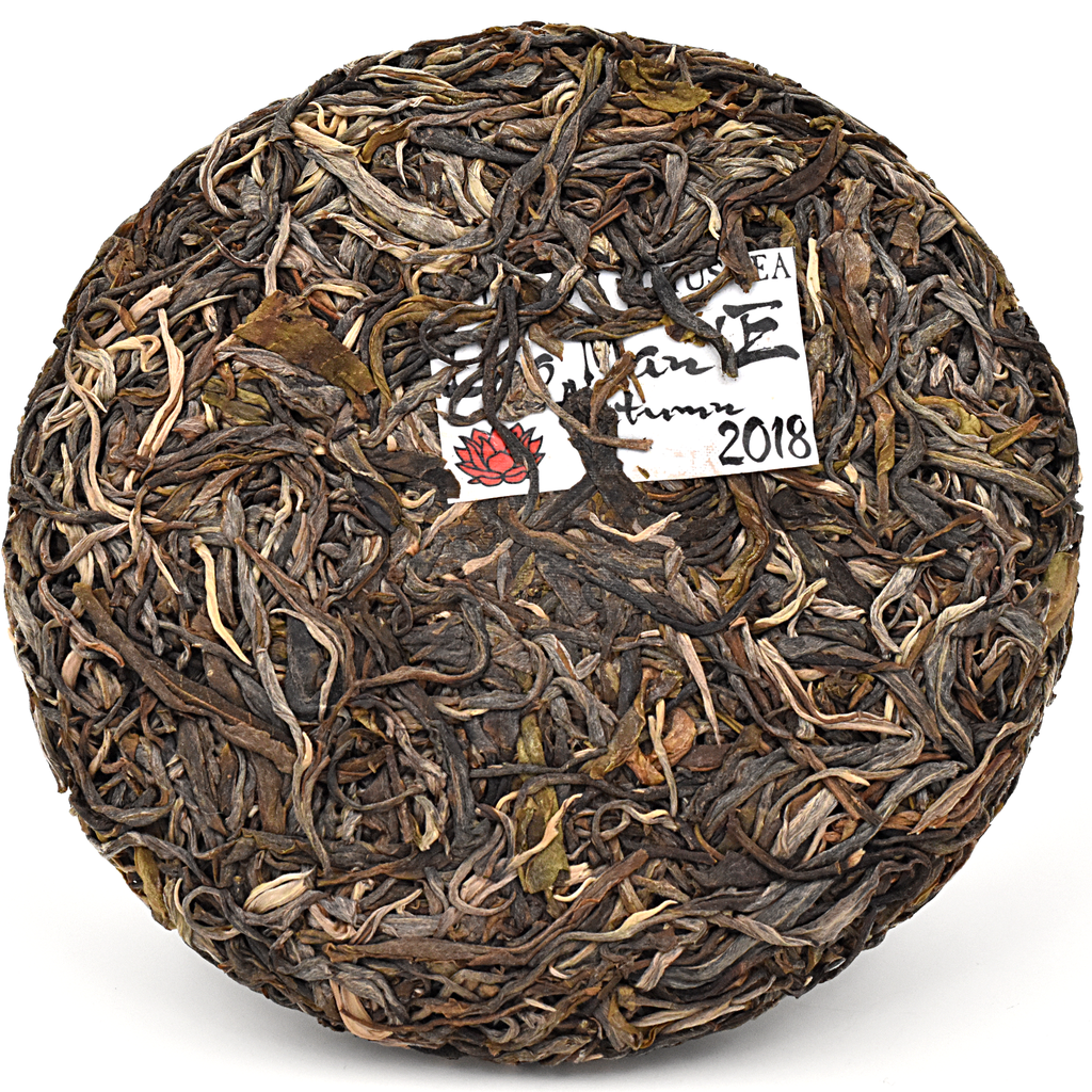 2018 Autumn Lao Man'E Old Tree 200g Cake - Sheng / Raw Puerh Tea :: FREE SHIPPING