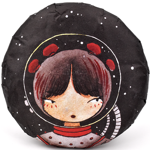 "2019 Spring ""Space Girls - Feist"" 100g Cake - Sheng / Raw Puerh Tea :: FREE SHIPPING"