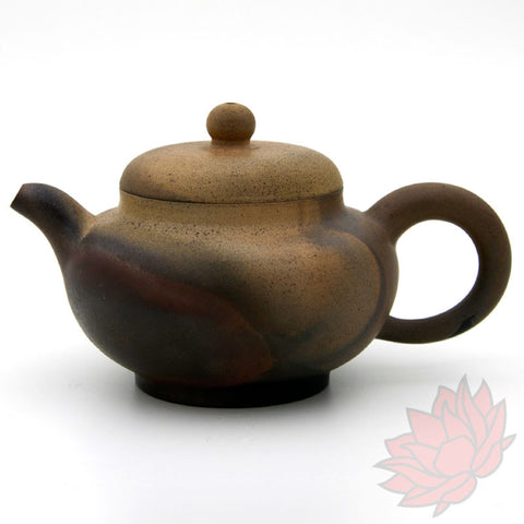 Wood Fired Jianshui Zitao Clay Teapot Fang Gu Style with Metallic Sheen 160ml