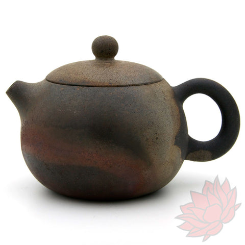 Wood Fired Jianshui Zitao Clay Teapot Xishi Style with Metallic Sheen - 180ml