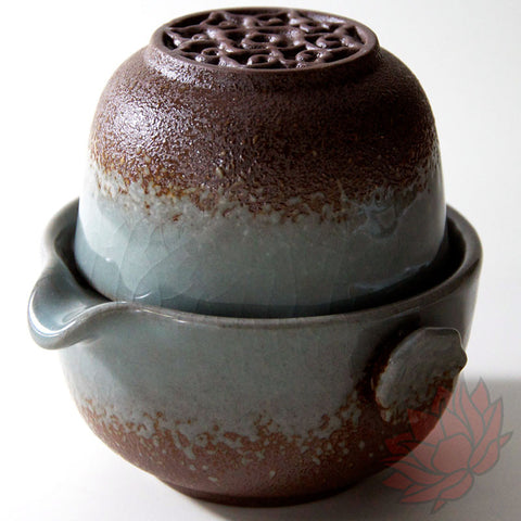 120ml Celadon Stoneware Easy Gaiwan and Cup - FREE SHIPPING