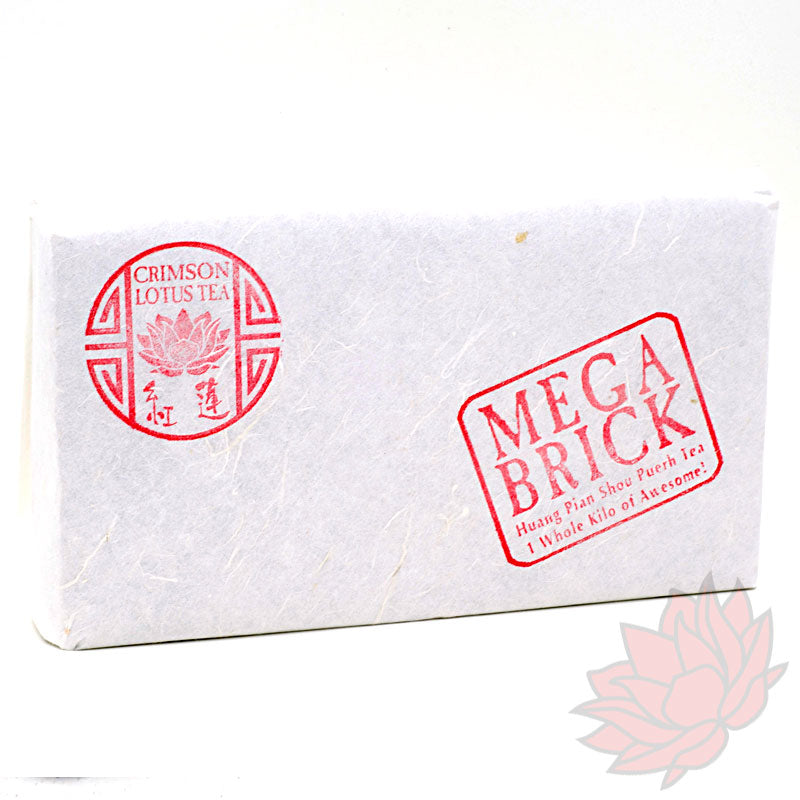 2014 Huang Pian MEGA Brick Shou / Ripe Puerh from Crimson Lotus Tea :: FREE SHIPPING