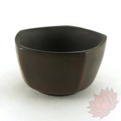 Jianshui Tea Cup - Brown Pentagonal