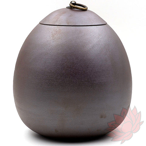 "Jianshui Zitao Clay Storage Jar - ""Long Dan"" / ""Dragon's Egg"" Metallic Purple :: FREE SHIPPING"