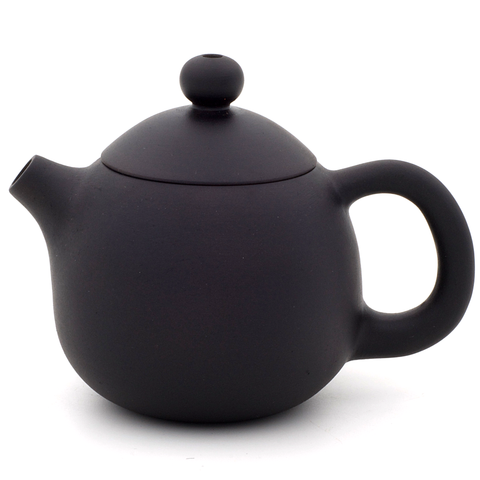 Matte Black Jianshui Zitao Teapot - Long Dan / Dragon's Egg Style - 100-120ml :: FREE SHIPPING