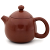 Polished Red/Brown Jianshui Zitao Teapot - Dragon's Egg / Long Dan Style - 100-120ml :: FREE SHIPPING