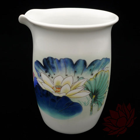 Porcelain Fairness Cup / Cha Hai - Lotus Style - 180ml