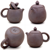 Rare Metallic Kiln Finish Jianshui Zitao Teapot Extra Fine - Long Dan / Dragon's Egg Style - 100-120ml :: FREE SHIPPING