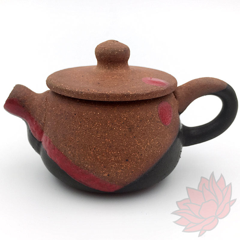 """Crimson Touch"" Handmade Gongfu Teapots by Mark Mohler - 70-100ml"