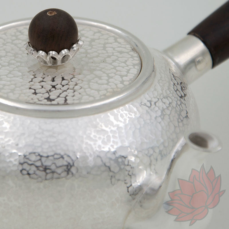 Handmade Solid Silver Gongfu Teapot w/ Wood Handle 230ml :: FREE SHIPPING