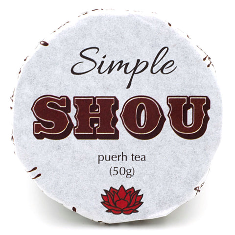 "2016 ""Simple Shou"" Shou / Ripe Puerh from Crimson Lotus Tea :: FREE SHIPPING"