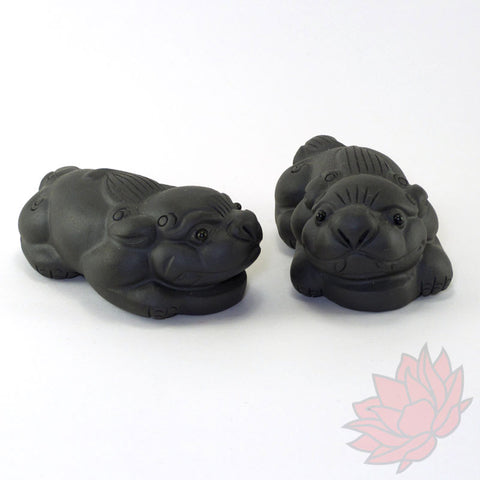 Pixiu / Baby Dragon Tea Pet Pair