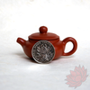 Crimson Lotus Tea Yixing Mini Teapot Teapet Fang Gu Style