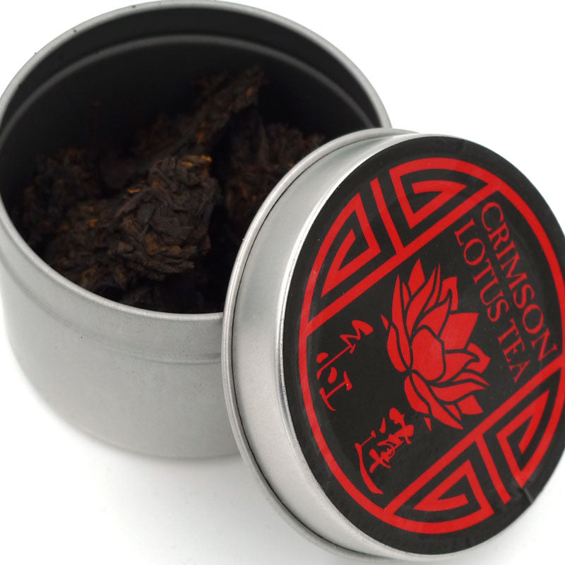 Tiny Tin of Shou - 2014 Shou Puerh Tea