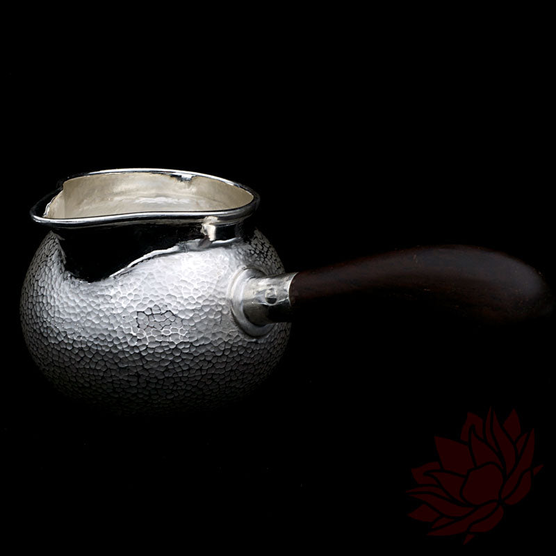 Wood Handled Solid Silver Cha Hai / Fairness Cup 200ml :: FREE SHIPPING