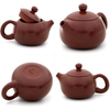 Polished Red/Brown Jianshui Zitao Teapot - Xishi Style - 100-110ml :: FREE SHIPPING