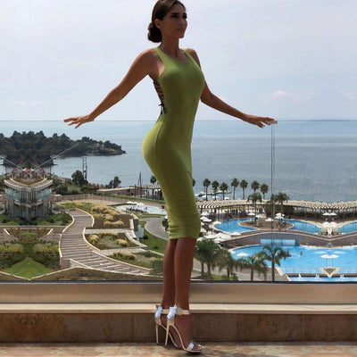 Women Sexy Sleeveless Backless Bandage Bodycon