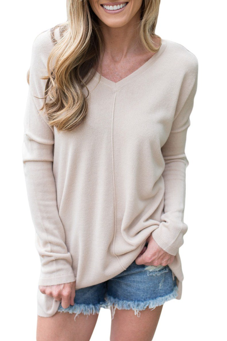 Apricot Soft comfort V Neck Sweater