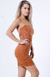 V BACK RUCHED DRESS