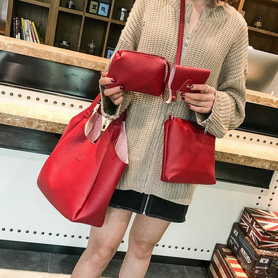 Wholesale Women handbag  Four Set Handbag Shoulder