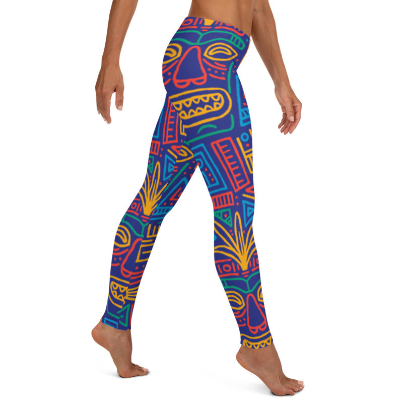 Tiki Festival Printed leggings, Capris and Shorts