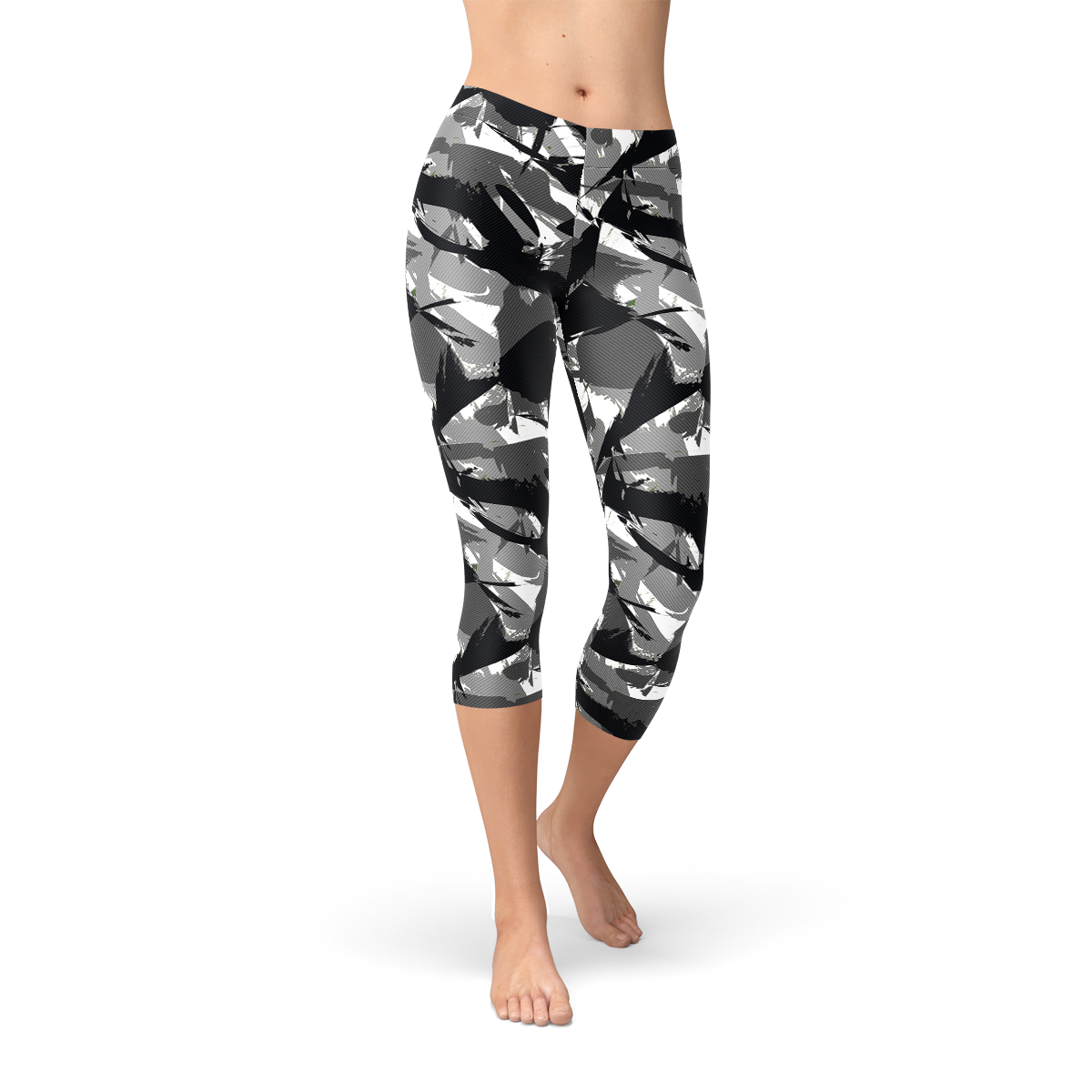 Womens Urban Camo Capri Leggings